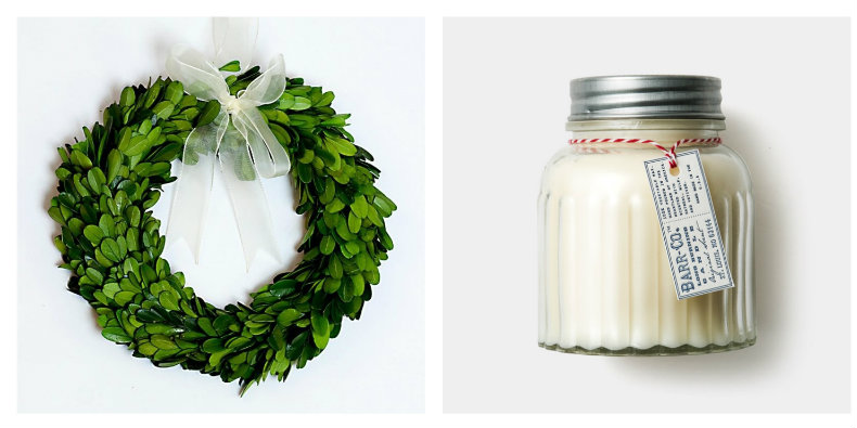preserved real boxwood wreath  30 cm
