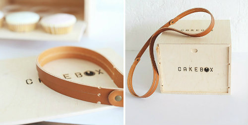 wooden cake box carrier