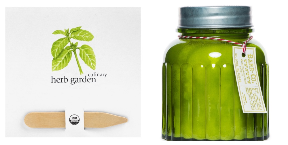 barr & Co watercress mint candle in apothecary jar