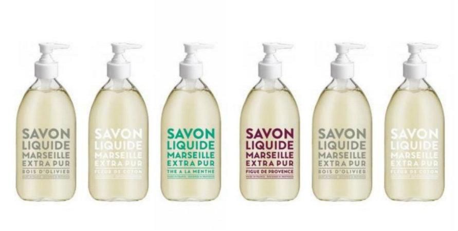 marseille soaps 500 ml glass bottle
