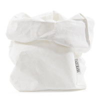 White Washable Paper Bag Small