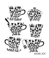 Tea Cups Black