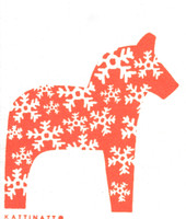 Dala Horse Snowflake Orange