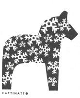 Dala Horse Snowflake  Black