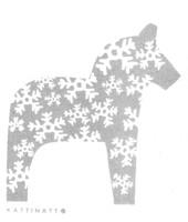 Dala Horse Snowflake Grey