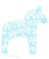 Dala Horse Snowflake Turquoise
