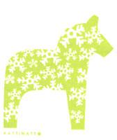 Dala Horse Snowflake Green