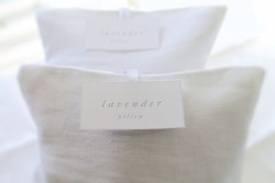 Belgian Linen Pillow filled with French lavender petals.