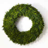 Preserved Tuscan Cypress Wreath