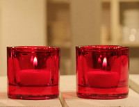 Red Glass Votive