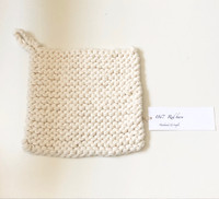 Organic Cotton Knitted Pot Holder