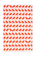 Moose Orange Tea Towel