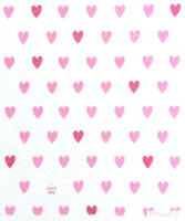 Pink Hearts Dishcloth - New!