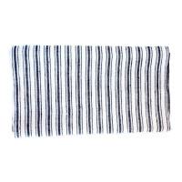 Vintage Linen Towel Boat Stripe Blue