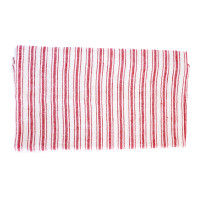 Vintage Linen Towel Boat Stripe Red
