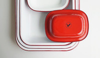 Falcon Enamelware Bake Set - Pillarbox Red