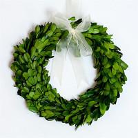 "Preserved Boxwood Wreath 10"""