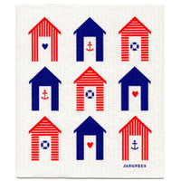 Beach Huts Red & Blue - New!