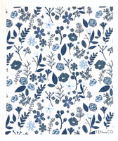 Flowers & Leaves Blue - New!