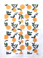 Vintage Citrus Orange Tea Towel - New!