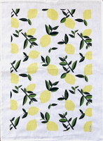 Vintage Citrus Lemon Tea Towel - New!