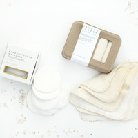 Bamboo Velour & Fleece Washcloths Set