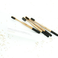 Bamboo & Charcoal Infused Toothbrushes Set