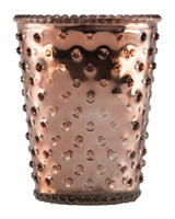 Copper Hobnail Glass Candle - Limited Edition