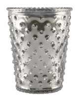Silver Hobnail Glass Candle - Limited Edition