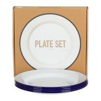 Falcon Enamelware White Plates Set