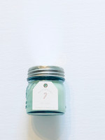 Peppermint Candle Blue Mason Jar