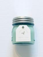 Christmas  Day Candle Mason Jar Blue