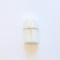 Danish Short  Dinner Candles -  White