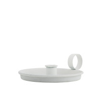 Classic Danish Metal Candle Holder White
