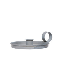 Classic Danish Grey Metal Candle Holder