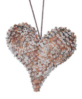 Real Pine Cone Heart Large