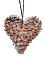Real Pine Cone Heart Small