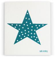 Petrol Polka Dot Star