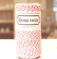 Bakers Twine -  Original Cherry & White