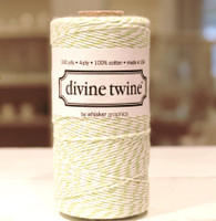 Bakers Twine - Green Apple & White