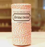 Bakers Twine - Orange & White