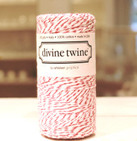 Bakers Twine - Raspberry & White