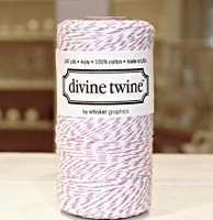 Bakers Twine - Purple & White