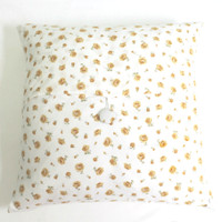 Cotton Pillow Cover- Yellow Flowers