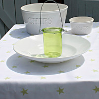 Green Stars Tablecloth