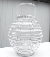 White Washed Willow Lantern