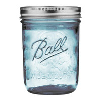 Heritage Blue Mason Jar Wide