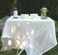 Ivory Belgian Linen Table Cloth