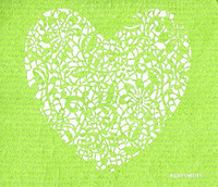 Lace Heart Apple Green
