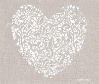 Lace Heart Grey